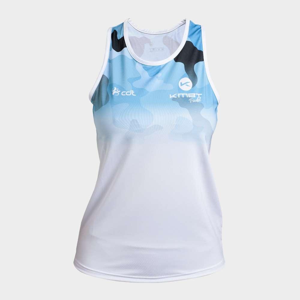 Camiseta de Juego blanca KMBT Pádel